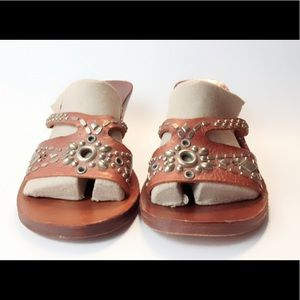 1bcf637c94f2c1 Calleen Cordero Shoes - Calleen Cordero Studded Slip on Leather Sandals